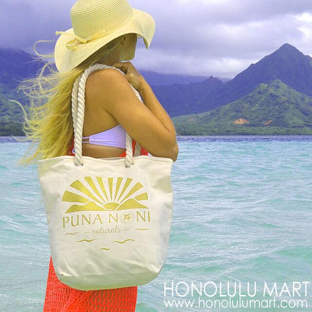 ハワイのプナノニ・ナチュラルズ・トートバッグ