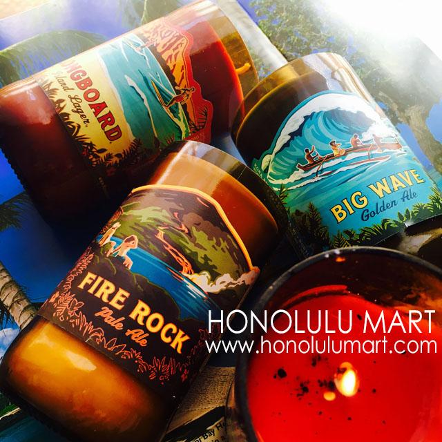 ハワイのコナビール瓶入りアロマキャンドル2