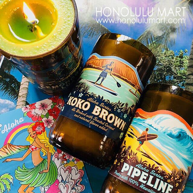 季節限定コナ・ブリューイング瓶ハワイアンキャンドル