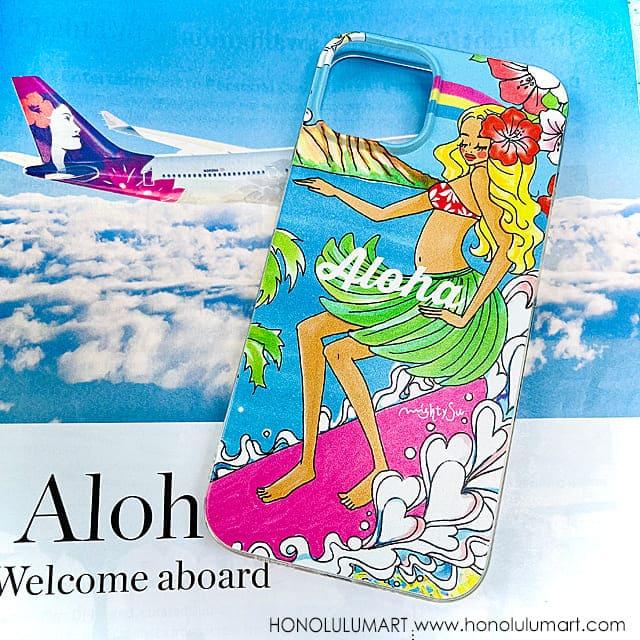 サーフズ・アップ・フラガール(Mighty SuのiPhoneケース)