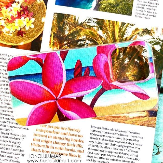 プルメリア柄iPhoneケース(ハワイのステファニー・ボイナイ)