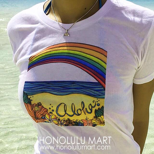 アロハ・ハワイのTシャツ(ステファニー・ボイナイ)