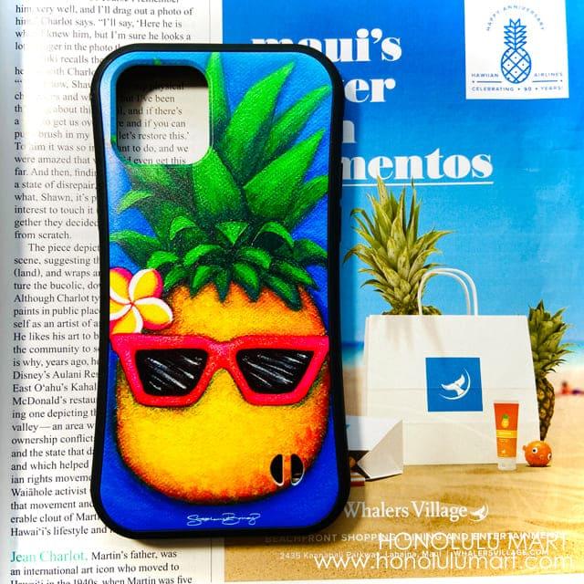 パイナップル柄iPhoneケース(ハワイのステファニー・ボイナイ)1