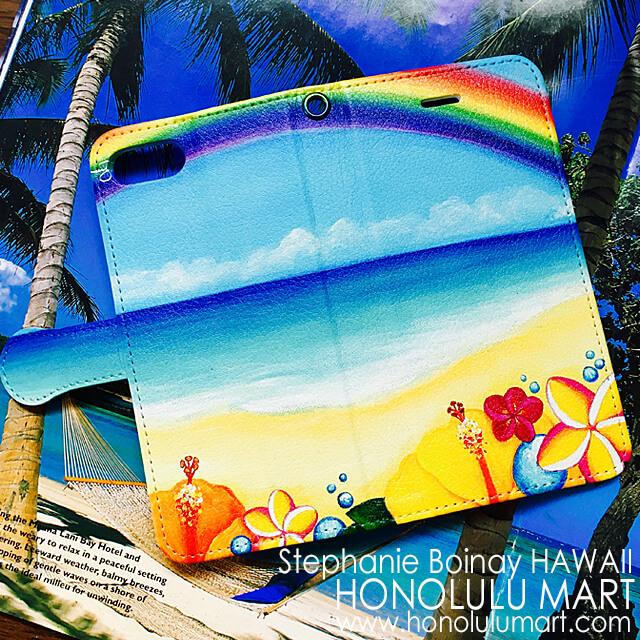 ハワイのトロピカルな手帳型iPhoneケース1
