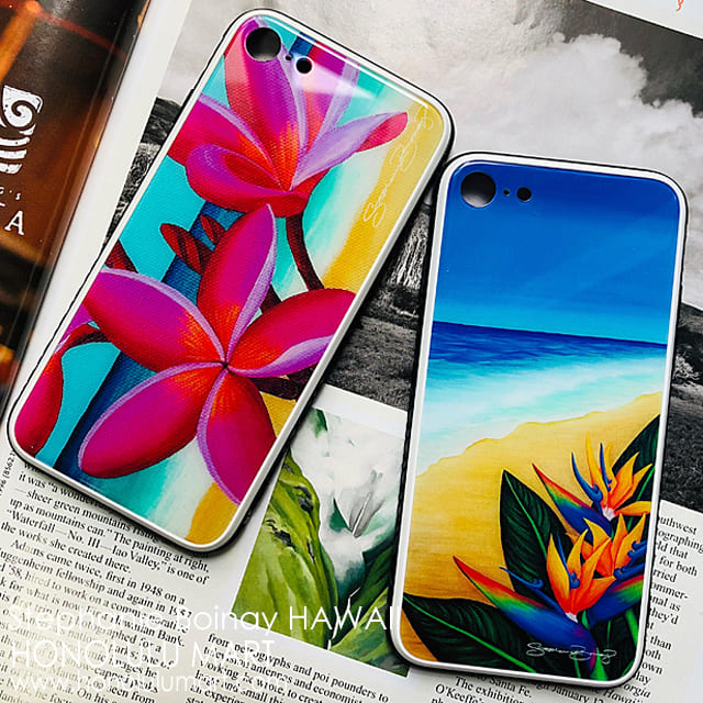 ハワイのお花の絵のiPhoneケース