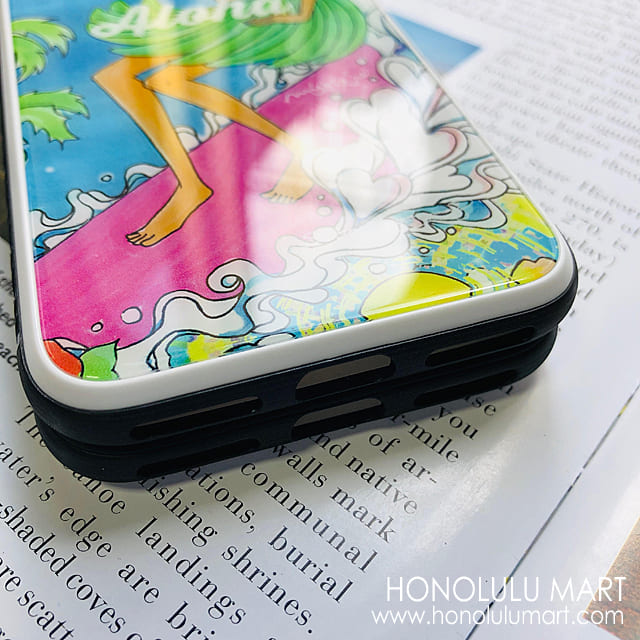 強化ガラスiPhoneケースの表面写真