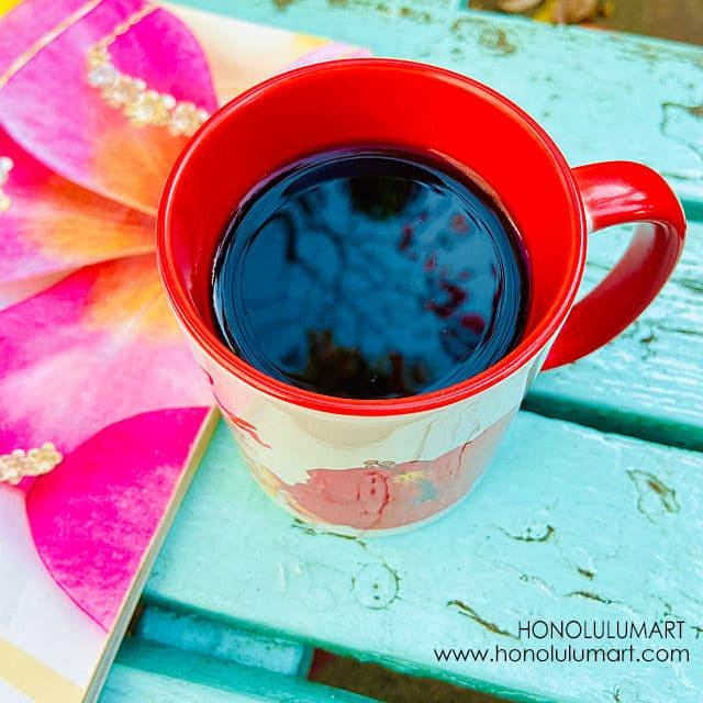 ハワイの花柄マグカップ7