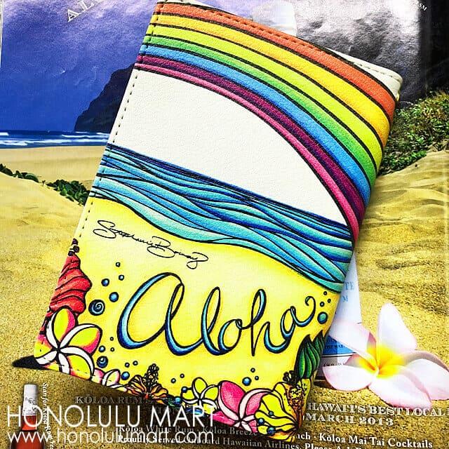アロハ・ハワイ・パスポートケース