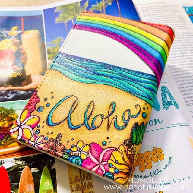 アロハ柄パスポートケースの写真