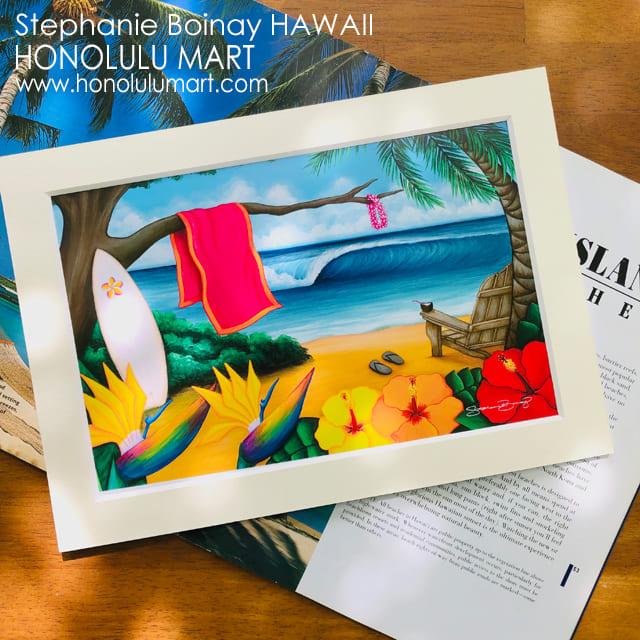 パラダイスビーチの絵(ハワイのステファニー・ボイナイ)4