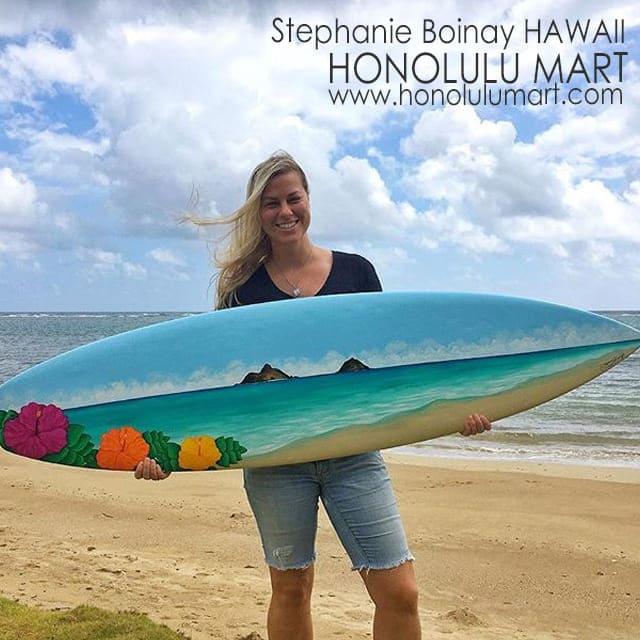 ラニカイビーチの絵のサーフボード・ペインティング31