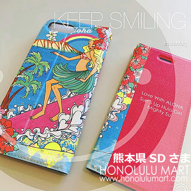 熊本県のお客さまの写真(Mighty Su手帳型iPhoneケース5)