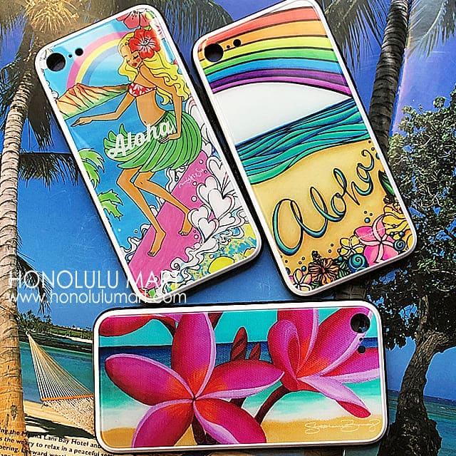 iPhoneXR対応ハワイアンiPhoneケース