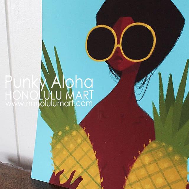 パイナップルの絵(ハワイのPunky Aloha)