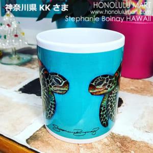 ホヌの絵のハワイアンマグカップ(神奈川県のお客さまの写真)13
