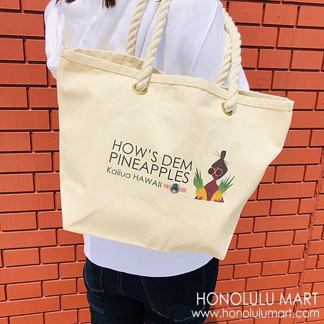 パイナップル柄ミニトートバッグ(ハワイのPunky Aloha)1