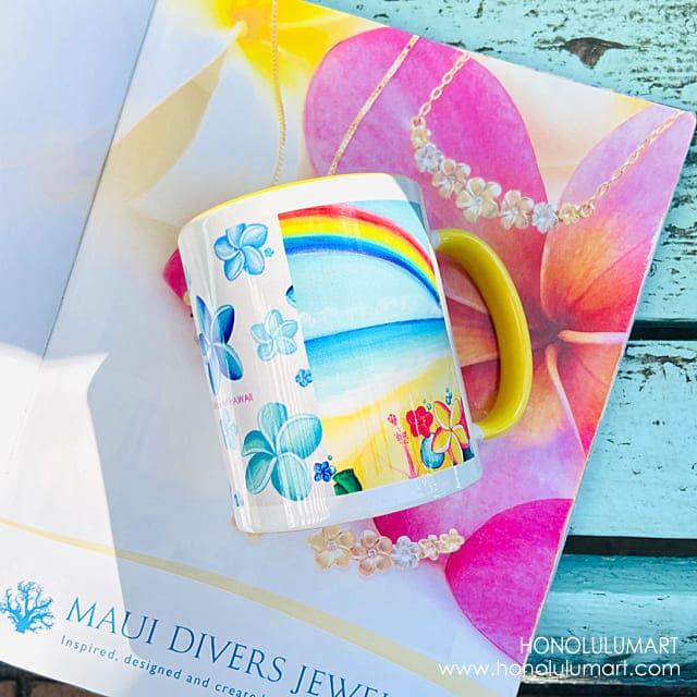 虹の絵柄のハワイアン・マグカップ1