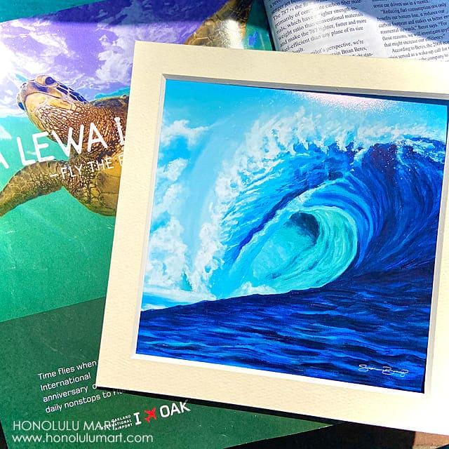 ノースショアの波の絵ブルークラッシュ(ハワイのステファニー・ボイナイ)2