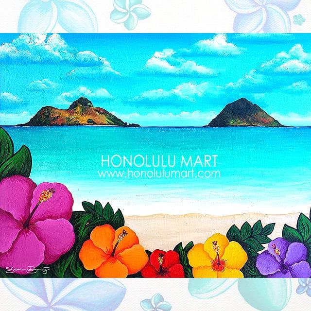 ラニカイビーチの絵(ハワイのステファニー・ボイナイ)