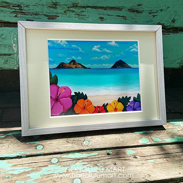 ラニカイビーチの絵(ハワイのステファニー・ボイナイ)23