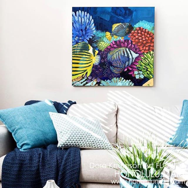 魚の絵のインテリア例8