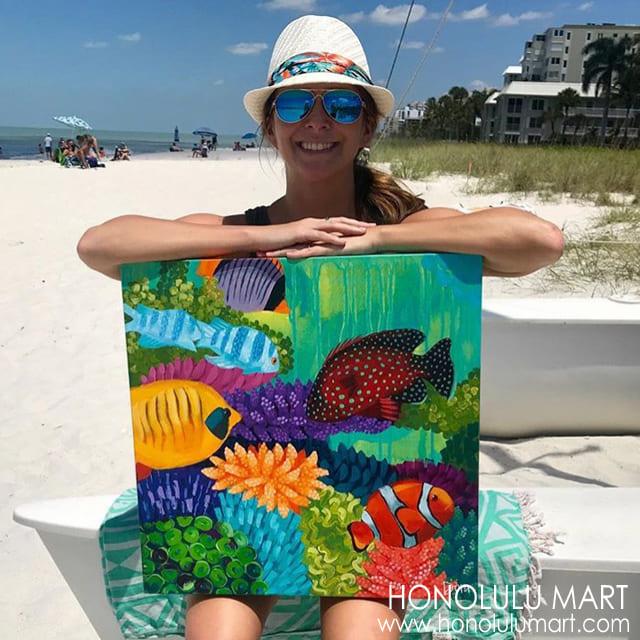 小魚の絵(フロリダのアーティストDora Knuteson)10