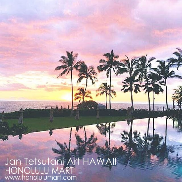 フォーシーズン・リゾートホテル・オアフの夕焼けの景色の写真