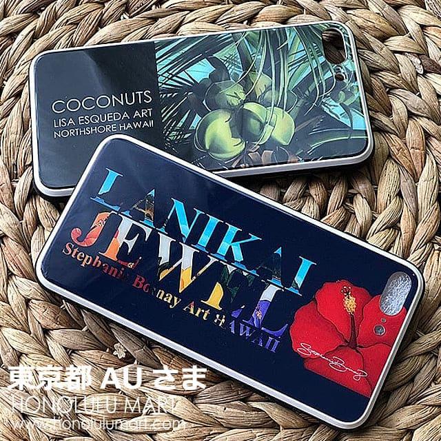 ココナッツとハイビスカスとラニカイビーチのiPhoneケースの写真