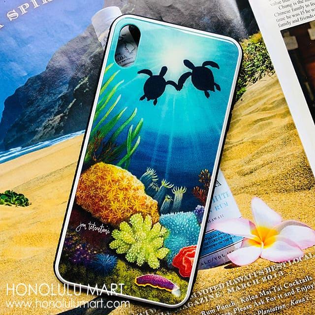 2匹のホヌの iPhoneケース(ジャン・テツタニ)