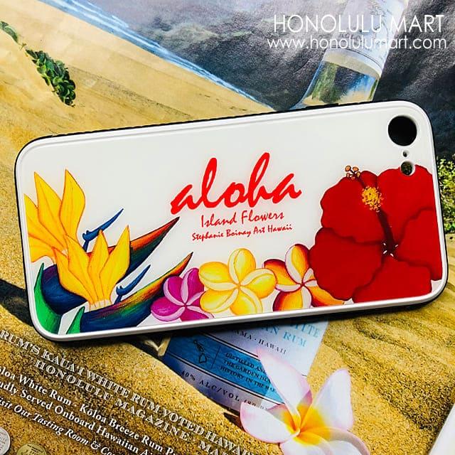 ハワイのトロピカルフラワー柄iPhoneケース