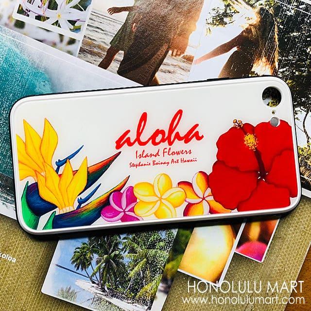 ハワイのトロピカルフラワー柄iPhoneケース1