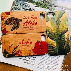 ウッド・ハワイアンiPhoneケース