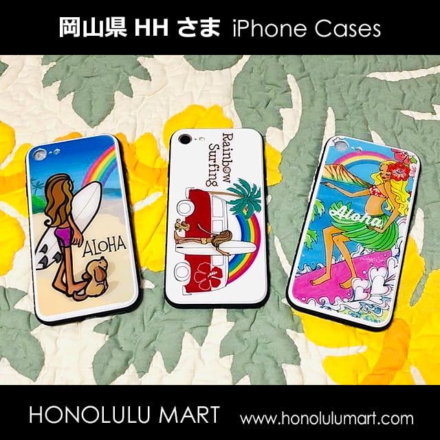 ハワイと虹とサーフィンのiPhoneケース