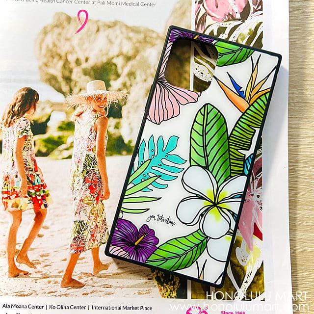 お花の絵柄のハワイアンiPhoneケース(Jan Tetsutani)1