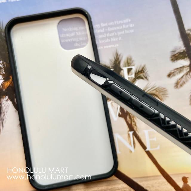 強化ガラス製iPhoneケース背面と横の写真