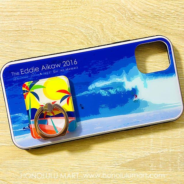 iPhoneケースとスマホリングのコーデ