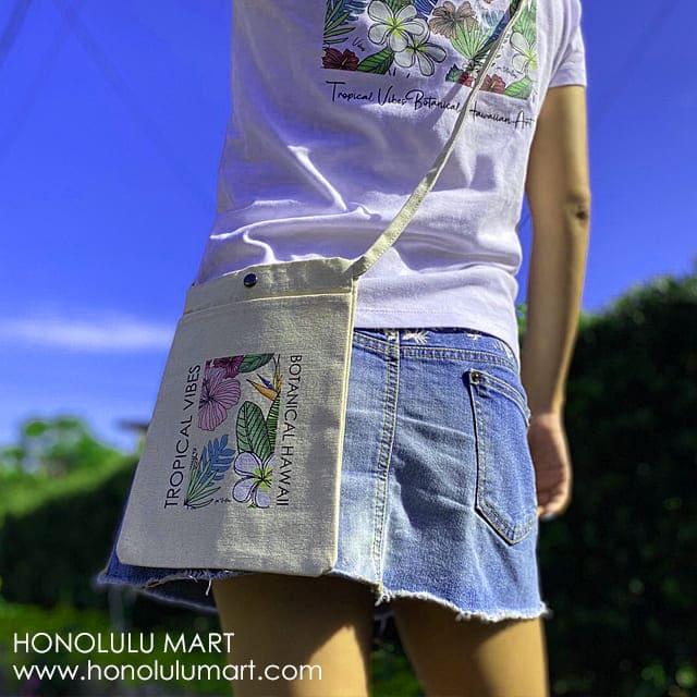 ハワイのボタニカル柄サコッシュ5