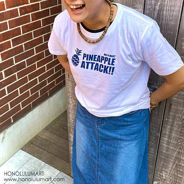 パイナップル・アタック・ハワイアンTシャツ2