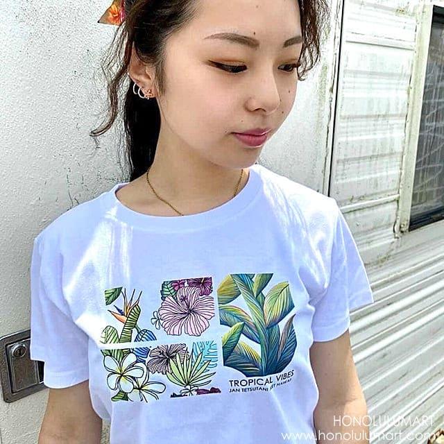 ボタニカル柄ハワイアンTシャツ3