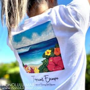 ハワイの海の景色のTシャツ(ステファニー・ボイナイ)3