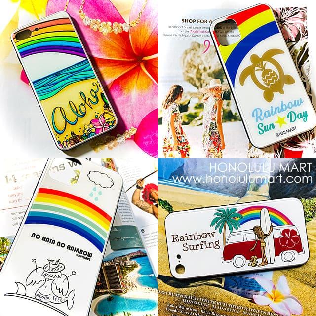 虹のハワイアンiPhoneケース