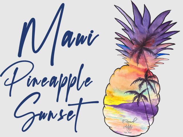 パイナップルマウイTシャツのデザイン