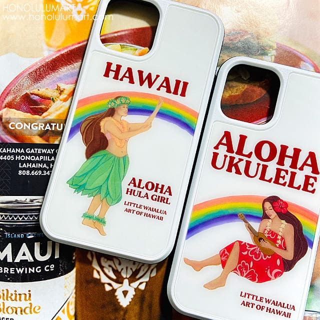 フラとウクレレのハワイアンiPhoneケース