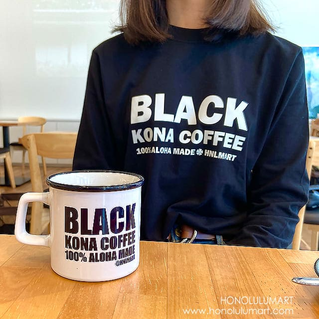 ブラック・コナコーヒー長袖Tシャツ(グレー)5