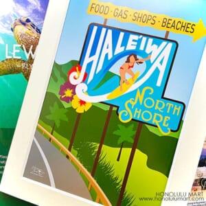 ハレイワの看板のポスターアート3
