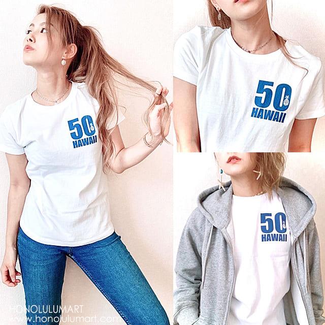 50ハワイTシャツ