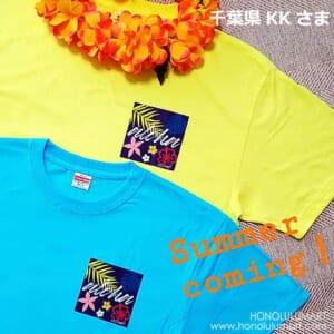 和柄ハワイアンTシャツアロハ6