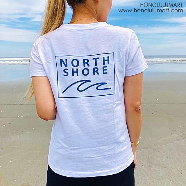 ノースショア波の絵柄のバックプリントTシャツ7