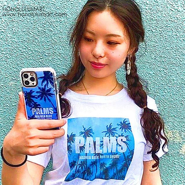 ブルーパームズiPhoneケースとTシャツお揃いコーデ写真10