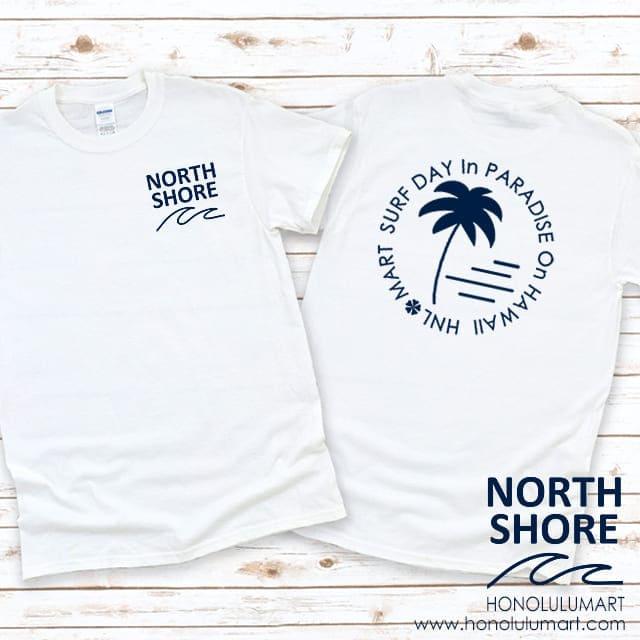 ノースショア波柄カラーTシャツ